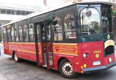 Trolley at Hostos